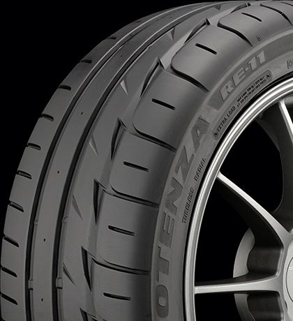 The Potenza RE-11 is an Extreme Performance Summer tire developed for enthusiastic sports car, sports coupe and performance sedan drivers. The Potenza RE-11 is designed to combine traction, handling and driving control with good noise and ride comfort. The Potenza RE-11 is tuned for dry and wet...