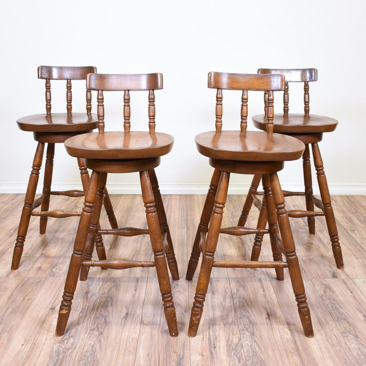 Set Of 4 Carved Spindle Swivel Barstools Solid Wooddining TablesstoolsKincaid Stonewater Tall Dining Table   watchwrestling us. Kincaid Stonewater Tall Dining Table. Home Design Ideas
