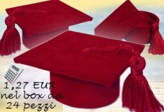 negozio bomboniera laurea esempio confezionare scatolina rossa di velluto articoli degree party