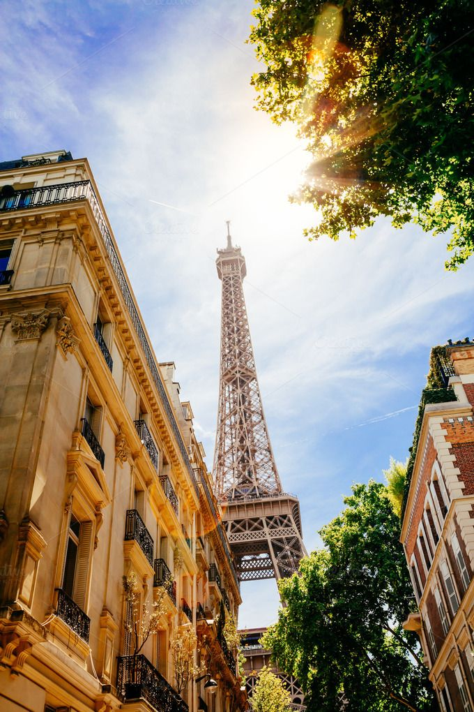 Eiffel Tower from a street by asife on Creative Market