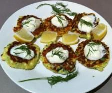 Christmas Nibbles - Zucchini and Haloumi Fritters by Terri-Anne Murray