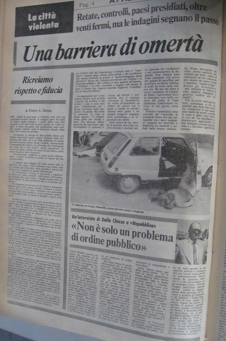 10 agosto 1982, L'Ora, pagina