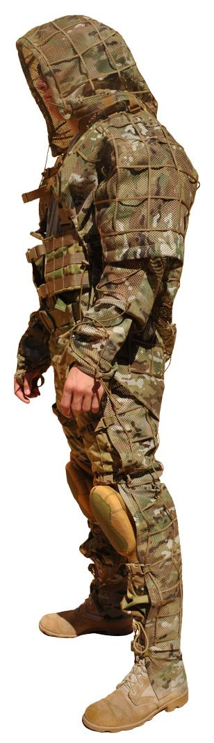 keep hidden its easier than straping vegatation to your molle and you can pack it away quicker