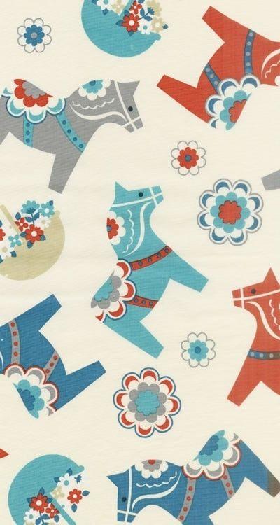 New from Kokka Trefle Large Scandinavian Prints 1/2 by fabricworm