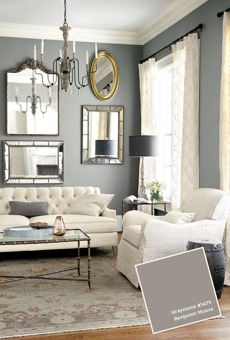 Graystone by Benjamin Moore, I think they need a pop of color though...perhaps the throw cushions.