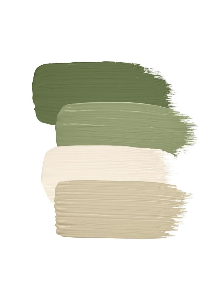 House (first story): Artichoke by Sherwin-Williams, House (second story): Clary Sage by Sherwin-Williams; Trim: Dover White by Sherwin-Williams; Columns: Downing Sand by Sherwin-Williams
