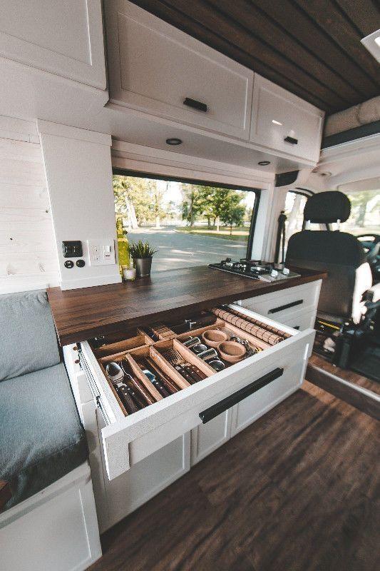 Breathtaking 50 Incredible RV Renovation to Make a Happy Camper this Season deco…