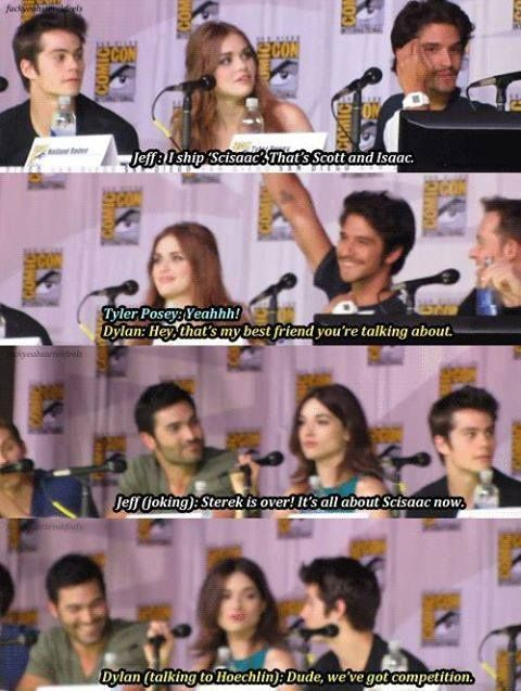 haha Sterek got themselves some competition! ;) Teen Wolf cast. ♥