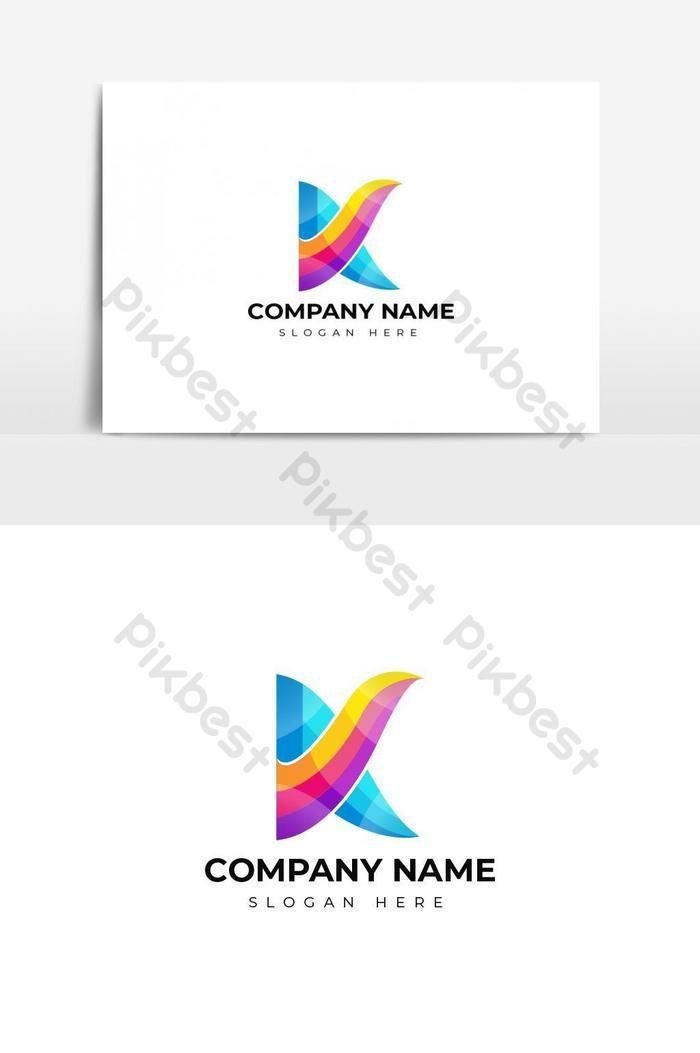 تصميم شعار حرف K ملون صور Png Ai تحميل مجاني Pikbest Letter Logo Design Letter Logo Logo Design