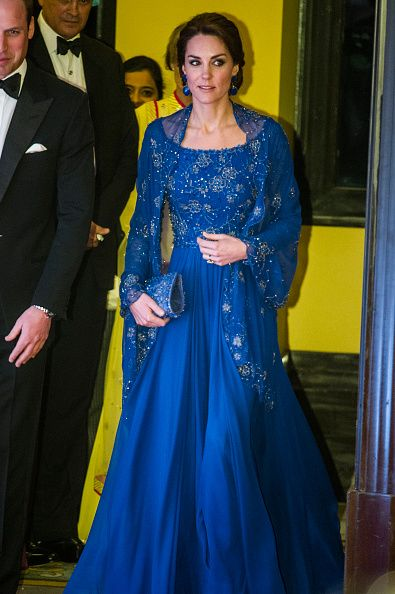 The Duke and Duchess of Cambridge attends the Bollywood Charity Gala at the Taj Palace Hotel in Mumbai, on April 10, 2016.