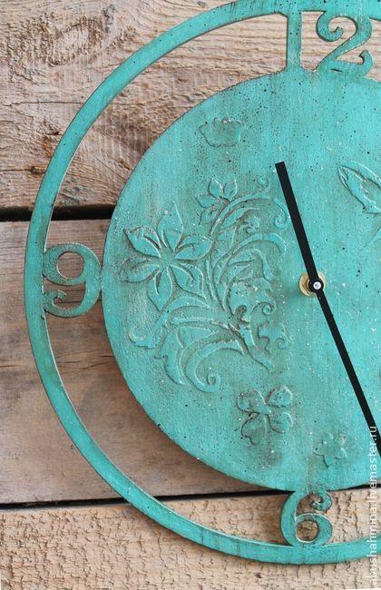 """Настенные часы """"Бирюза"""". Handmade."""