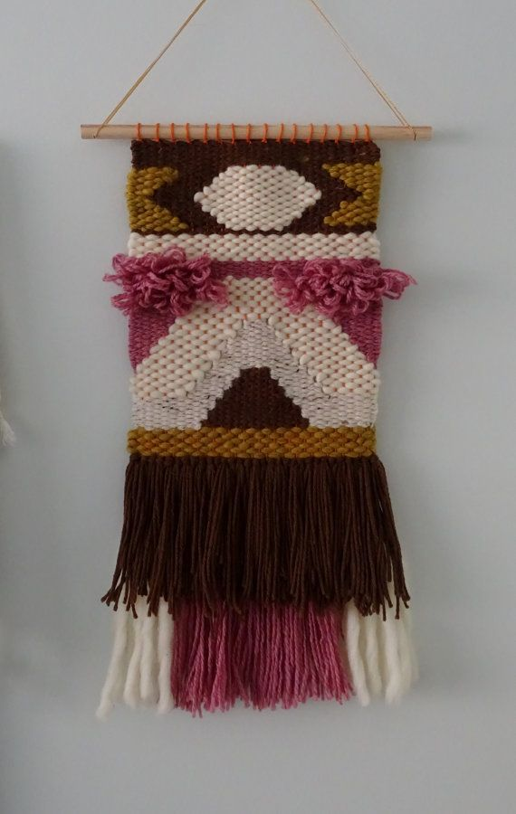Hand Woven Hanging Wall Tapestry by racheljOK on Etsy, $155.00