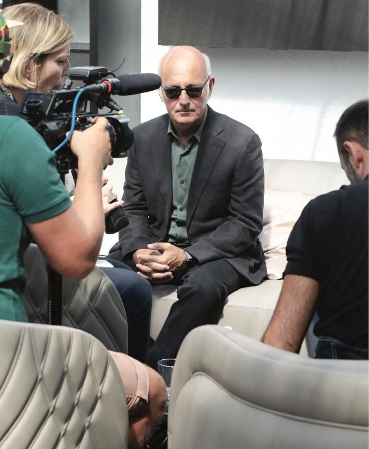 Interview with Ludovico Einaudi during the #BiennaleCinema2017 in the Venice Movie Stars Lounge. #Smania #Armchairs and #Sofa.