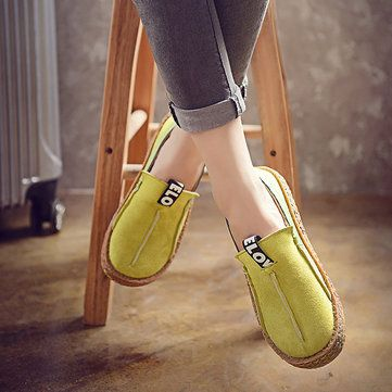 Big Size Women Casual Round Toe Soft Sole Pure Color Flat Loafers