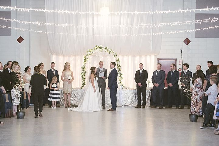 With the right decor, the Palliser Pavilion can host your ceremony and reception.