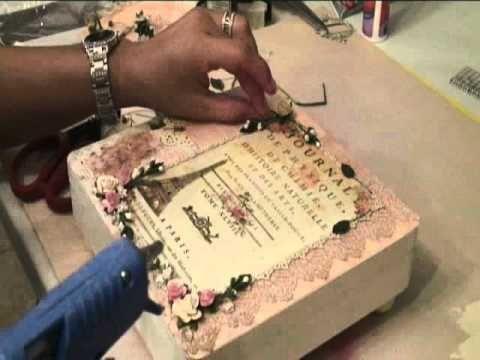 Paris Themed Cigar Box Tutorial - YouTube