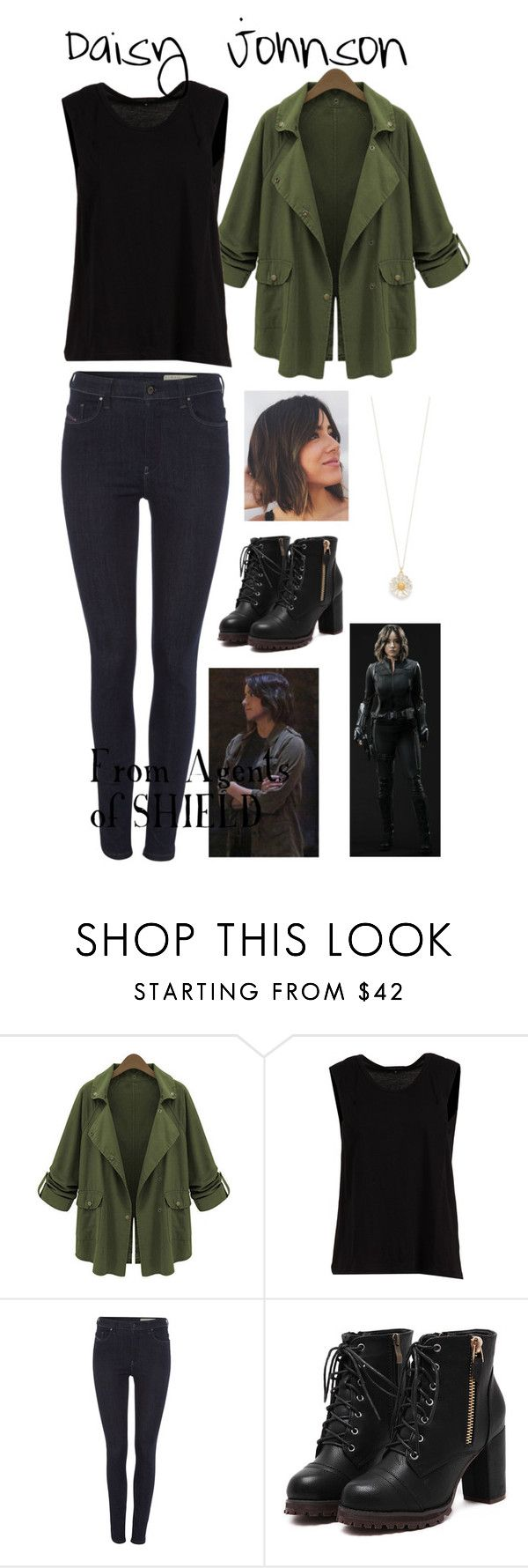 Agents of SHIELD: Daisy Johnson by stellabear0627 on Polyvore featuring Ohne Titel, Chicnova Fashion, Diesel and Alex Monroe