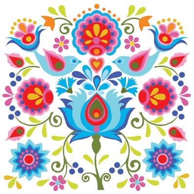 Mexican Folk Art design