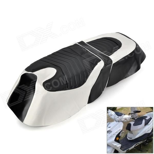 Fashion PU Leather Seat Cover for Yamaha - Black + White