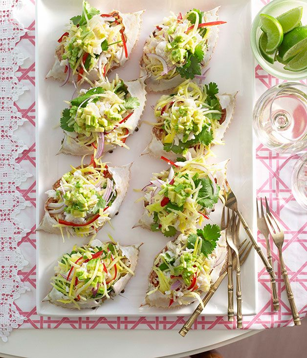 Australian Gourmet Traveller Caribbean recipe for crab and green mango salad
