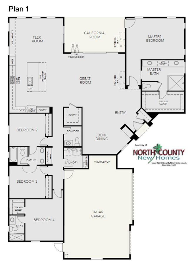 23 New Homes In Escondido North County New Homes Family House Plans Floor Plans One Level Homes