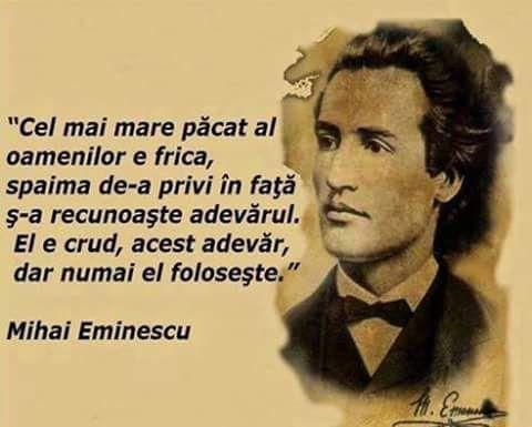 eminescu citat adevarul crud