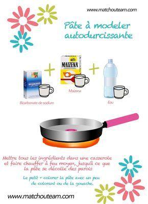www.matchouteam.com DIY pâte à modeler autodurcissante utiliser la pate auto durcissante pour garder la production des enfants