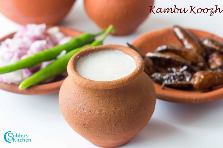 Kambu Koozh Recipe / Pearl Millet Porridge Recipe / Kambang Koozh Recipe | Subbus Kitchen