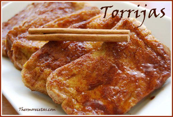 Torrijas en Varoma, son más ligeras porque no van fritas.