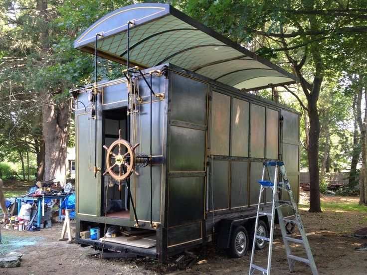 Best Tiny Steampunk House Built By Film Set Designer And Movie 400 x 300