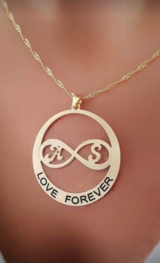 d61bba495 Personalized Infinity Necklace Love Forever Infinity Necklace Name Infinity
