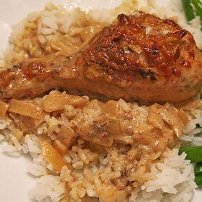 Hähnchenschenkel in Senf - Sahne - Soße, ein raffiniertes Rezept aus der Kategorie Geflügel. Bewertungen: 25. Durchschnitt: Ø 4,2.