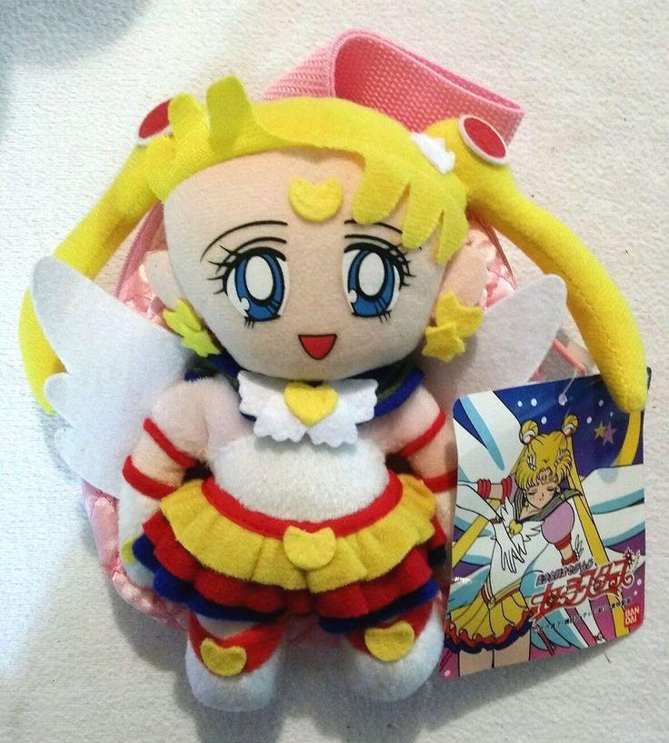 Eternal Sailor Moon Stars plush doll stuffed toy backpack purse bag #Bandai