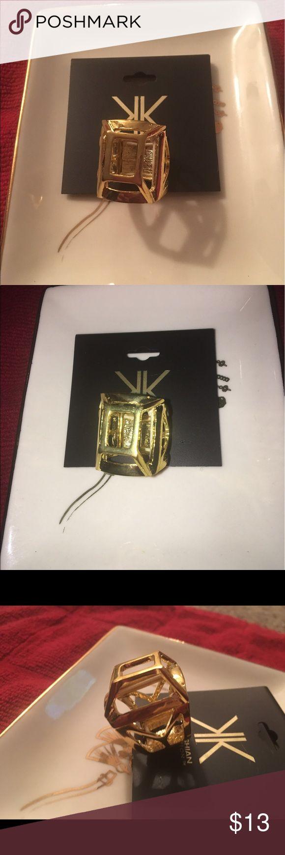 Kardashian Kollection Gold Stretch Ring Kardashian Kollection Ring  Gold  Adjustable size / Stretches  New never worn Kardashian Kollection Jewelry Rings
