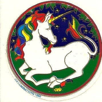 Rainbow Unicorn Sticker80S