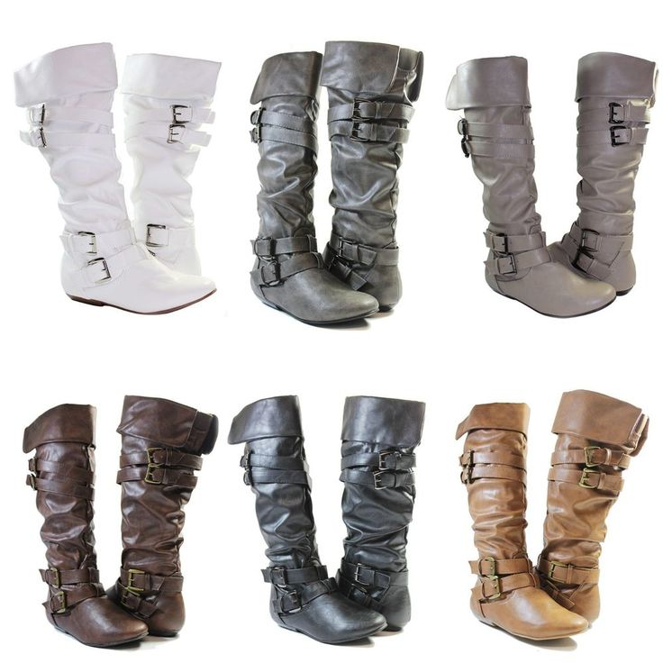 Women Riding Boots Slouch Manmade Leather Sexy Stylish Shoes Fashion Knee High #JoannaCollectionShoesByForeverLinkInt #FashionKneeHigh
