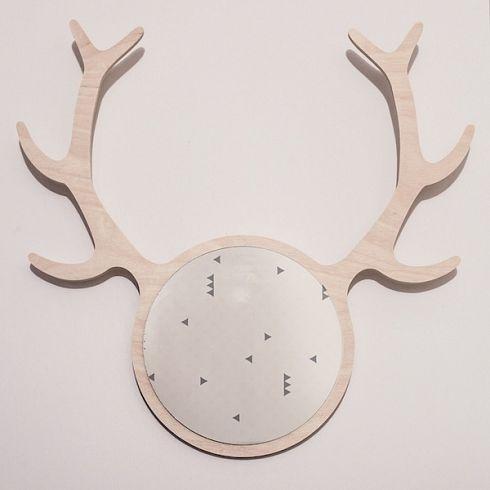DEER FRIEND MIRROR and hanger nordic design deer interior accessory by KATLA