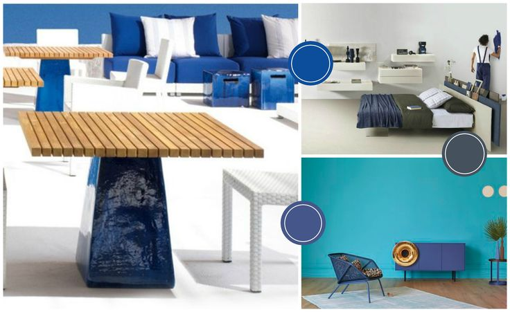 Blue is the color of calm, tranquility and balance ... here is three shades to decorate your outdoor, living or bedroom. http://www.malfattistore.it/en/product/caruso-2/ | #malfattistore #shoponline #inspiration #color #blue #furniture #contemporarydesign #gervasoni #miniforms #lagodesign #italiandesign #homestyle #homedecor #arredamentoonline