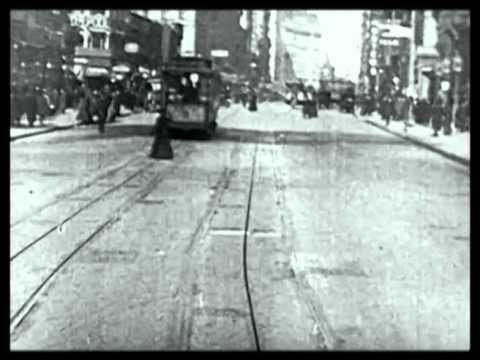 Trolley Ride Through New York City Early 1900s. I love this: Look at the dynamics of the street life back then! Amazing!