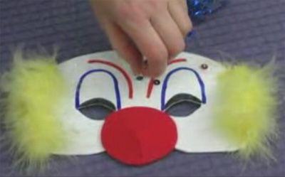 Masque clown , Activité manuelle enfant