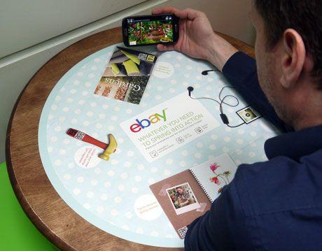 eBay's table top NFC ads