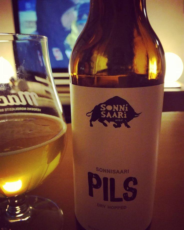Oulussa saa tätä #sonnisaaripils #sonnisaaribrewery #dryhopped #finnishbeer #pikkuvelitarjoaa