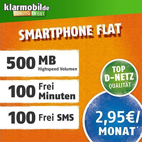#Sale klarmobil #Smartphone #Flat M mit 500 MB #Internet #Flat max. 7 2 MBit/s  100 Frei M...  #Sale Preisabfrage / klarmobil #Smartphone #Flat M mit 500 MB #Internet #Flat max. 7,2 MBit/s, 100 Frei-Minuten & 100 SMS in #alle deutschen Netze, 24 Monate Laufzeit,  monatlich nur 2,95 EUR, Triple-Sim-Karten  #Sale Preisabfrage   Mobilfunktarif #fuer Ihr #Handy #fuer 2,95 EUR monatlich mit einer Laufzeit von 24 Monaten, ab http://saar.city/?p=34603