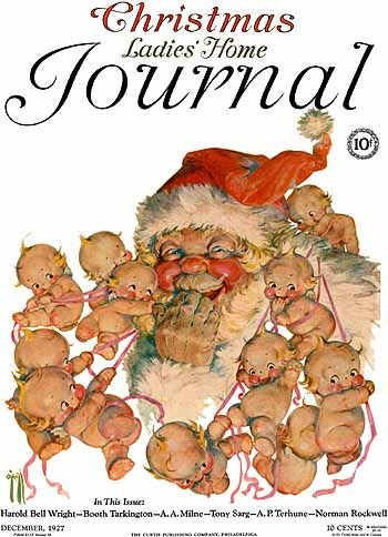 Ladies' Home Journal,Christmas (1927) Rose ONeill. Best known for her Kewpies.