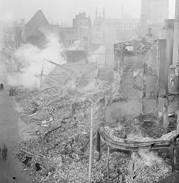 A German pilot mistakenly bombed London. Hitler had issued orders no civilians were to be bombed. England bombed Berlin and all bets were off
