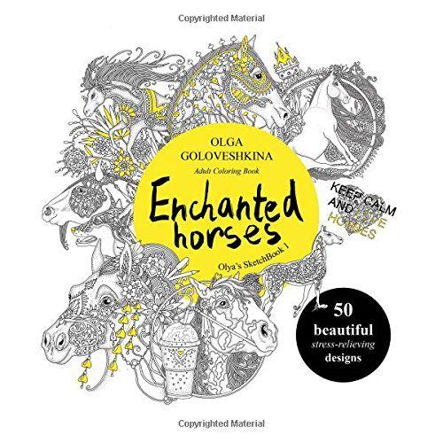 Enchanted Horses Adult Coloring Book Olyas SketchBook