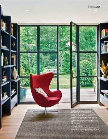 Love the metal-edged garden doors. Caroline van Thillo of MJL Interiors. Living Etc - September 2012, (C).
