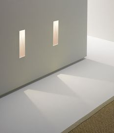 0976 Borgo Trimless 35 White Recessed Wall Light - great for staircases