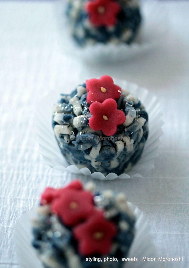 和菓子『紅寒梅 Kou-Kan-Bai~練切 Nerikiri』 Japanese sweets which designed scenery of the early spring in Japan. *styling / photo /  sweets : Midori Morohoshi(http://ameblo.jp/greenonthetable/imagelist.html)