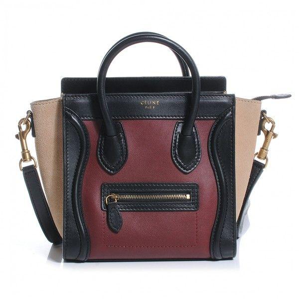 celine black and white bag - celine tricolor ponyhair nano luggage tote, celine handbag